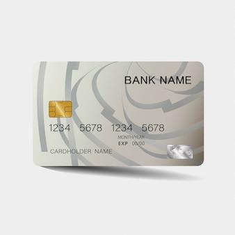 Modello di carta di credito argento