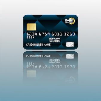 Modello di carta di credito con trama astratta