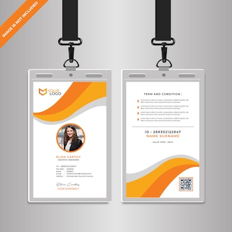 Modello di carta di identità aziendale