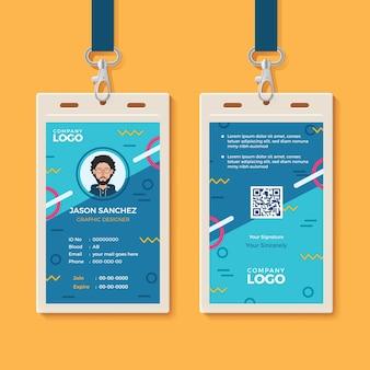 Modello di carta di identità creativa moderna