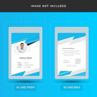 Modello di carta di identità dei dipendenti di ufficio azienda