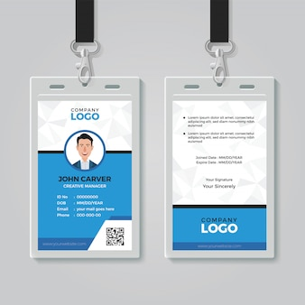 Modello di carta di identità multiuso