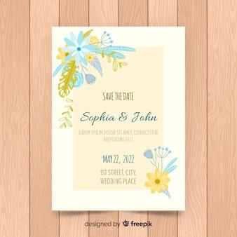 Modello di carta di invito a nozze