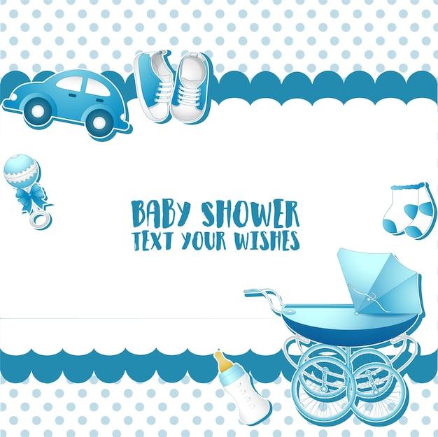 Modello di carta di invito baby shower