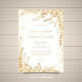 Modello di carta di invito matrimonio elegante