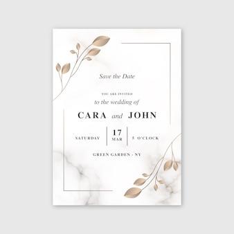 Modello di carta di marmo di nozze