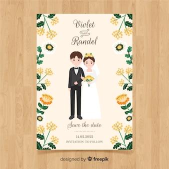 Modello di carta di nozze