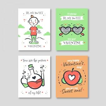 Modello di carta di San Valentino
