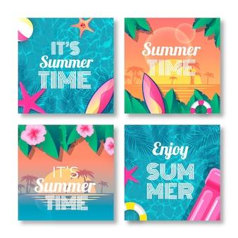 Modello di carta estate realistico