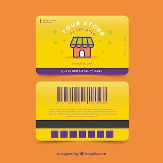 Modello di carta fedeltà del negozio colorato
