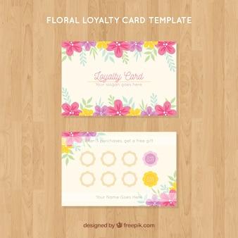 Modello di carta fedeltà floreale