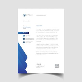 Modello di carta intestata creativa professionale