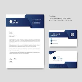 Modello di carta intestata e biglietto da visita creativo professionale