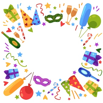 Modello di carta piatta buon compleanno di vettore