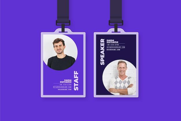 Modello di carte d'identità dal design minimale
