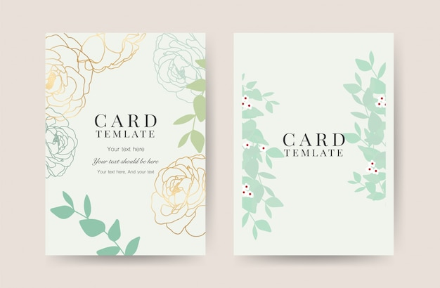 Modello di carte di invito matrimonio di lusso