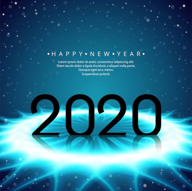 Modello di cartolina d'auguri di bella splendente luccica 2020 anno nuovo