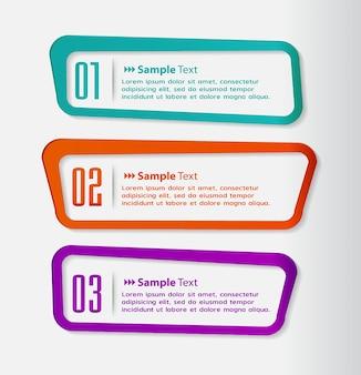 Modello di casella di testo, banner infografica