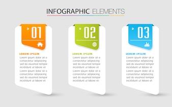 Modello di casella di testo di carta, banner Infographic