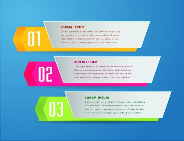 Modello di casella di testo freccia, banner infografica