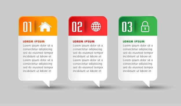 Modello di casella di testo moderno per sito web
