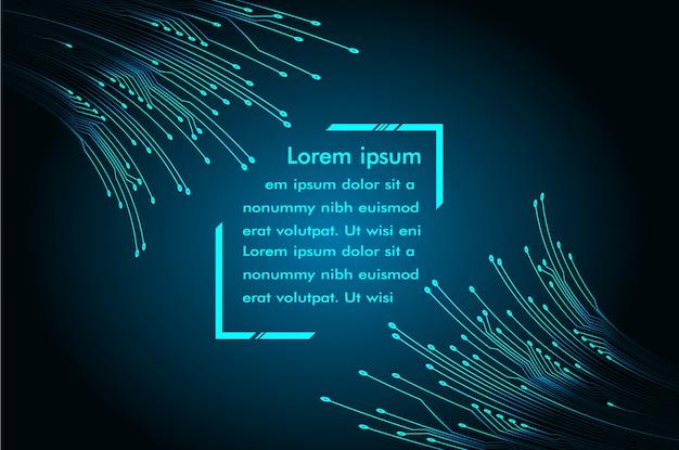 Modello di casella di testo moderno, sfondo