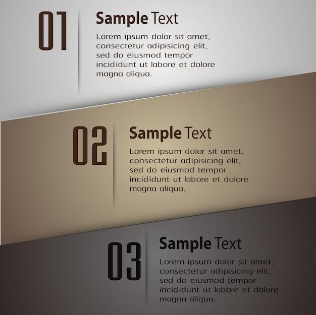 Modello di casella di testo moderno