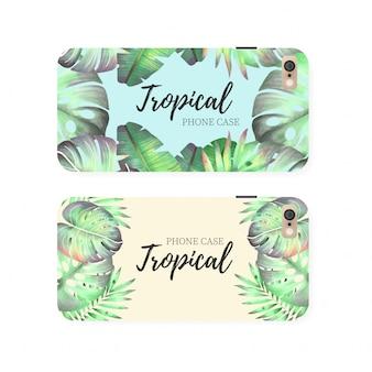 Modello di cassa del telefono tropicale