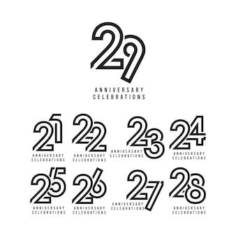 Modello di celebrazione di anniversario di 29 anni