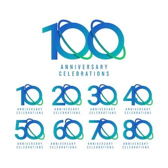 Modello di celebrazioni di anniversario di 100 anni