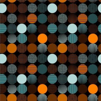 Modello di cerchi punteggiati e strisce