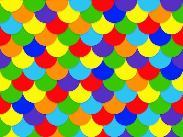Modello di cerchio arcobaleno sovrapposizione senza cuciture astratto