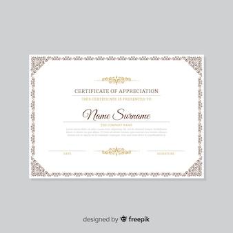Modello di certificato classico