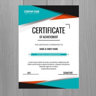 Modello di certificato colorato