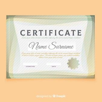 Modello di certificato con forme moderne