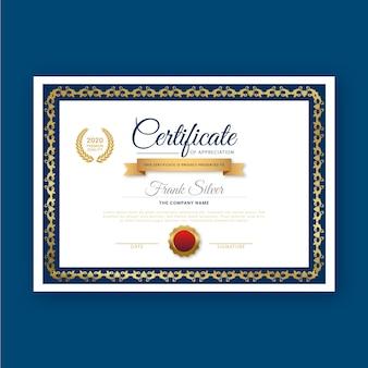 Modello di certificato con un design elegante