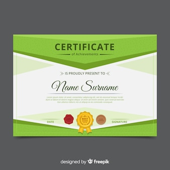 Modello di certificato decorativo
