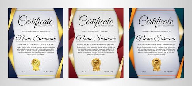 Modello di certificato di apprezzamento creativo