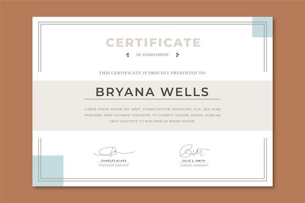 Modello di certificato di apprezzamento elegante