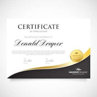 Modello di certificato di apprezzamento moderno