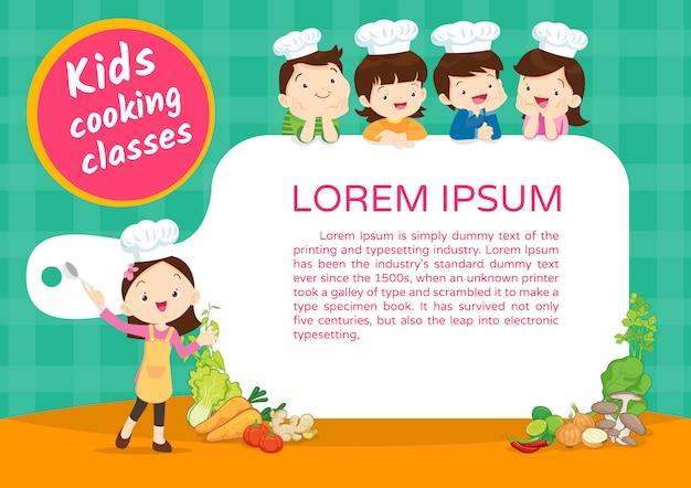 Modello di certificato di classe di cucina per bambini