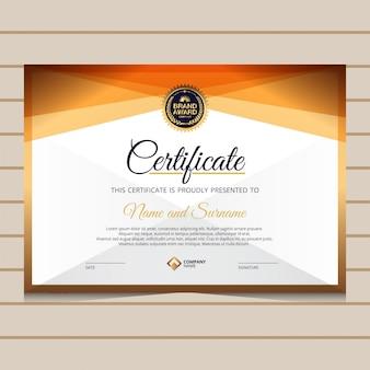 Modello di certificato di diploma elegante