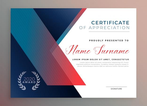 Modello di certificato di diploma moderno per uso multiuso