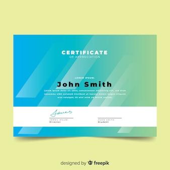 Modello di certificato di stile astratto