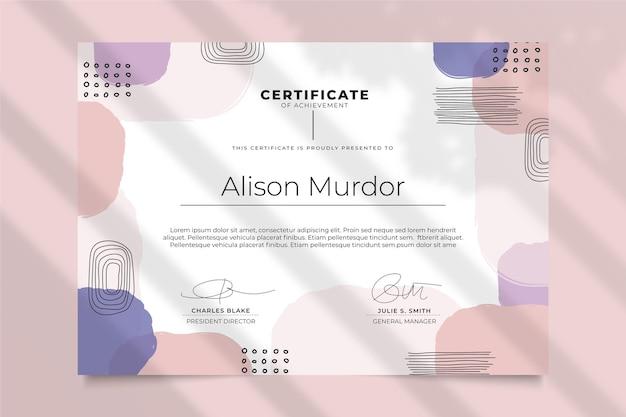 Modello di certificato di stile moderno