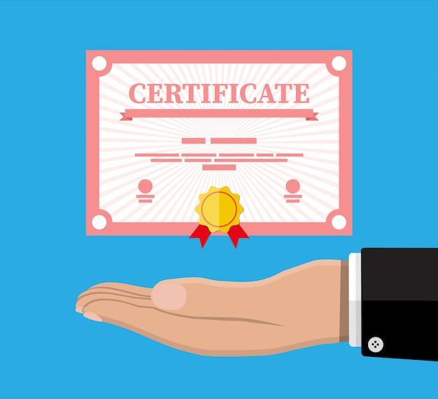 Modello di certificato. diploma o accreditamento