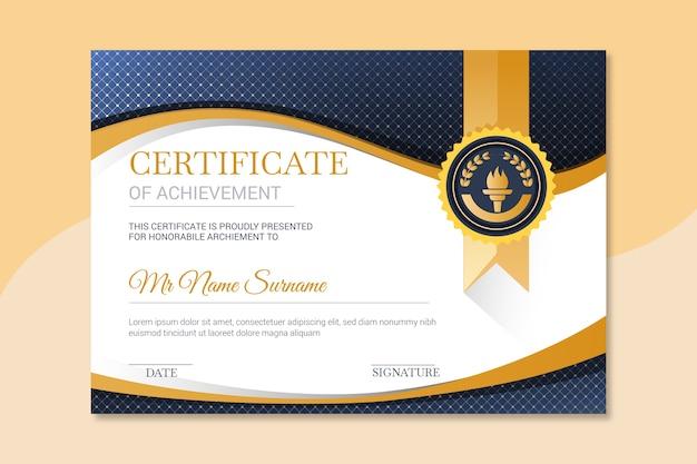 Modello di certificato elegante per l'università