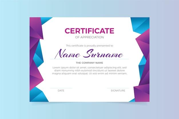 Modello di certificato geometrico astratto