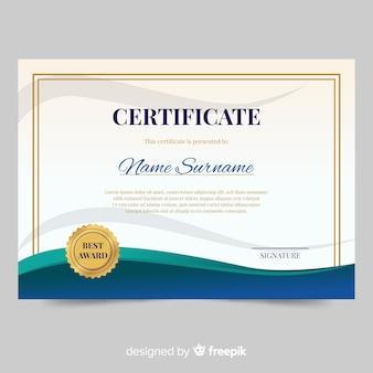 Modello di certificato in disegno astratto