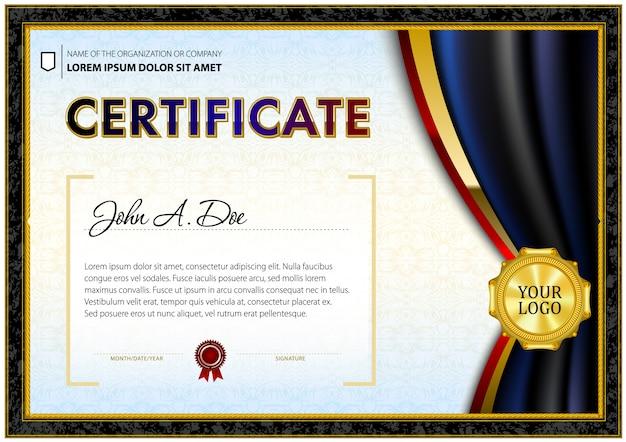 Modello di certificato in stile poligonale sfumato.